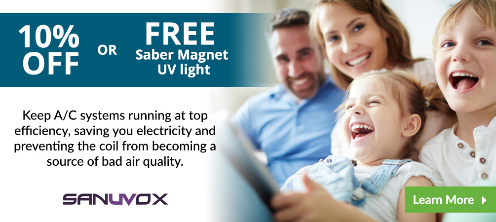 10% OFF of FREE Saber Magnet UV Light