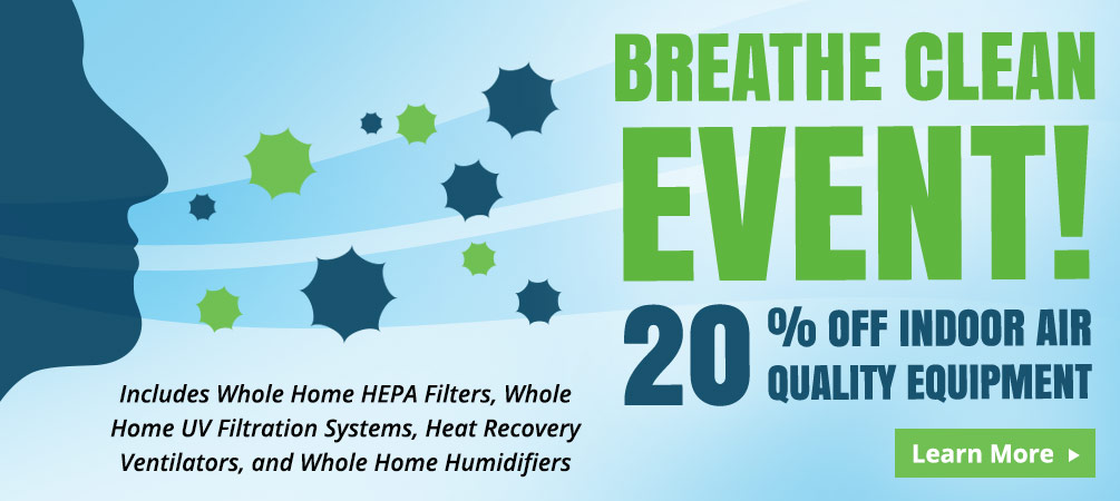save 20% on indoor air equipment