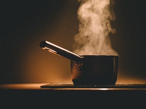 Cooking on a stove