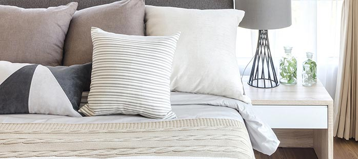 Replace pillows, pillowcases, sheets and comforter