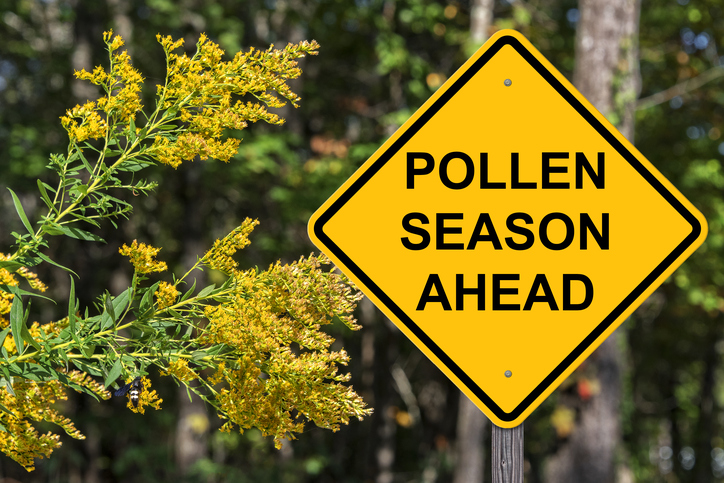 pollen season ahead sign